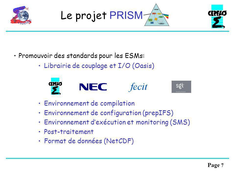 Le projet PRISM Promouvoir des standards pour les ESMs: