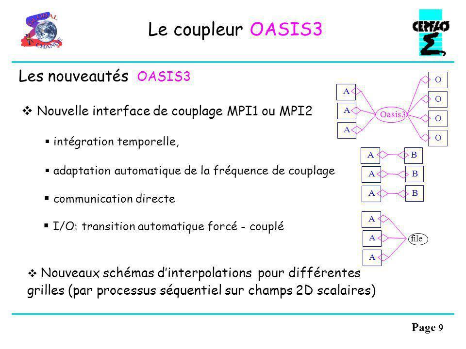 Le coupleur OASIS3 Les nouveautés OASIS3