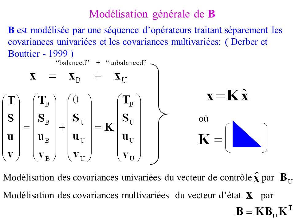 Modélisation générale de B