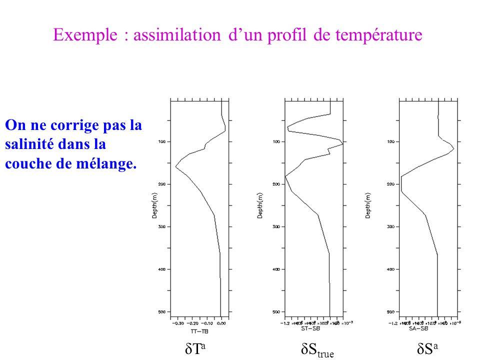 Exemple : assimilation d'un profil de température