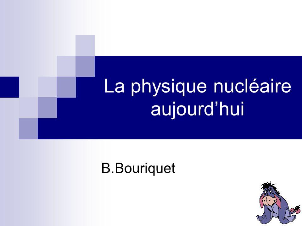 La physique nucléaire aujourd'hui