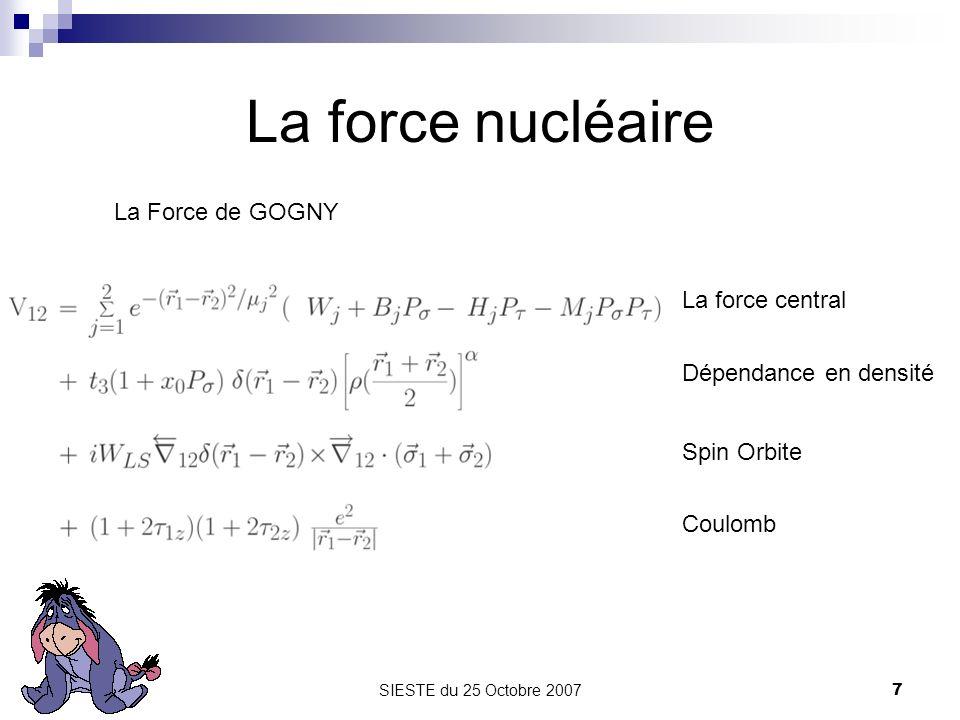 La force nucléaire La Force de GOGNY La force central
