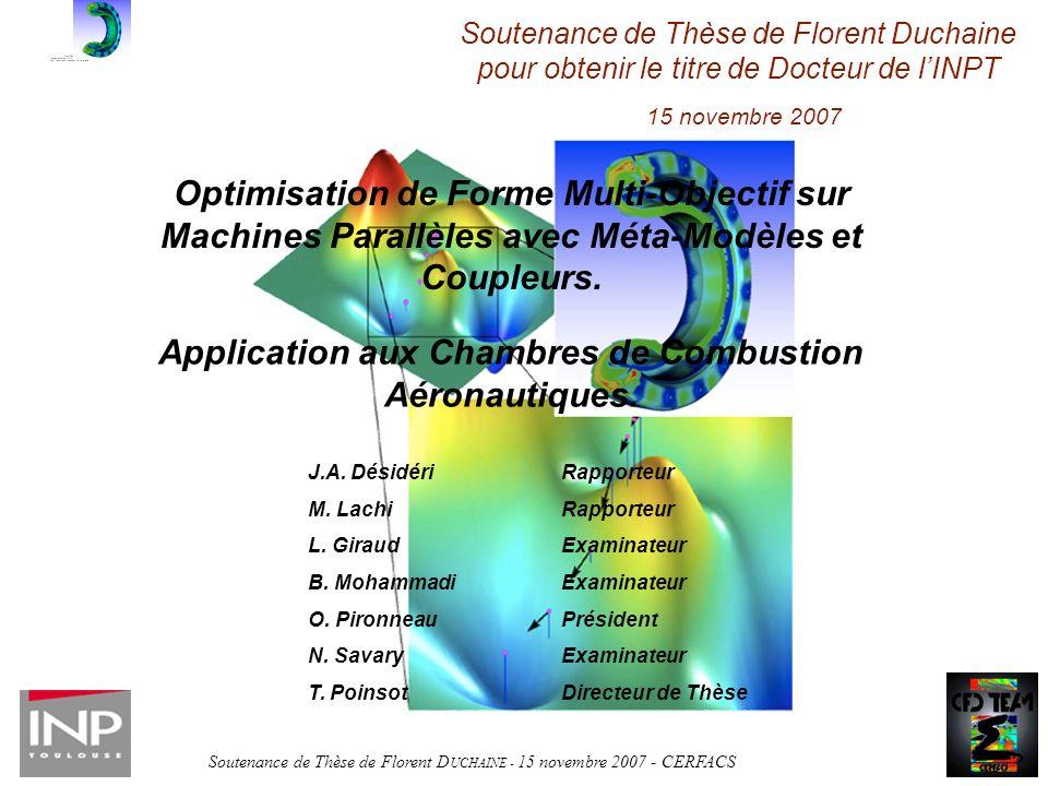 Application aux Chambres de Combustion Aéronautiques.