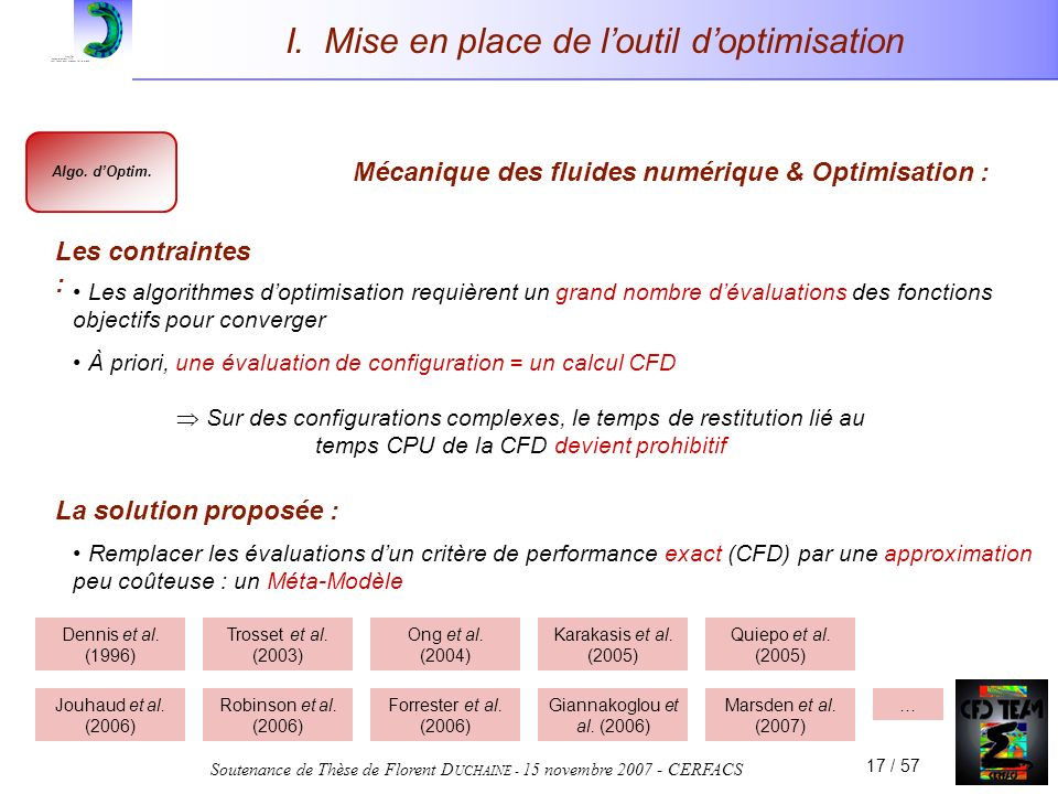 I. Mise en place de l'outil d'optimisation