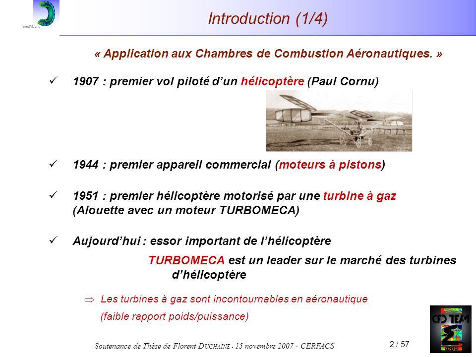« Application aux Chambres de Combustion Aéronautiques. »