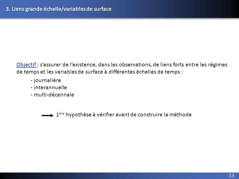 3. Liens grande échelle/variables de surface