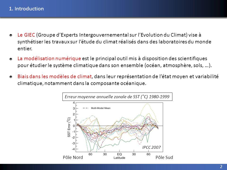 climatique, notamment dans la composante océanique.