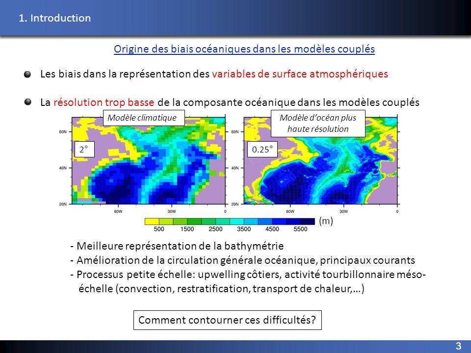Origine des biais océaniques dans les modèles couplés