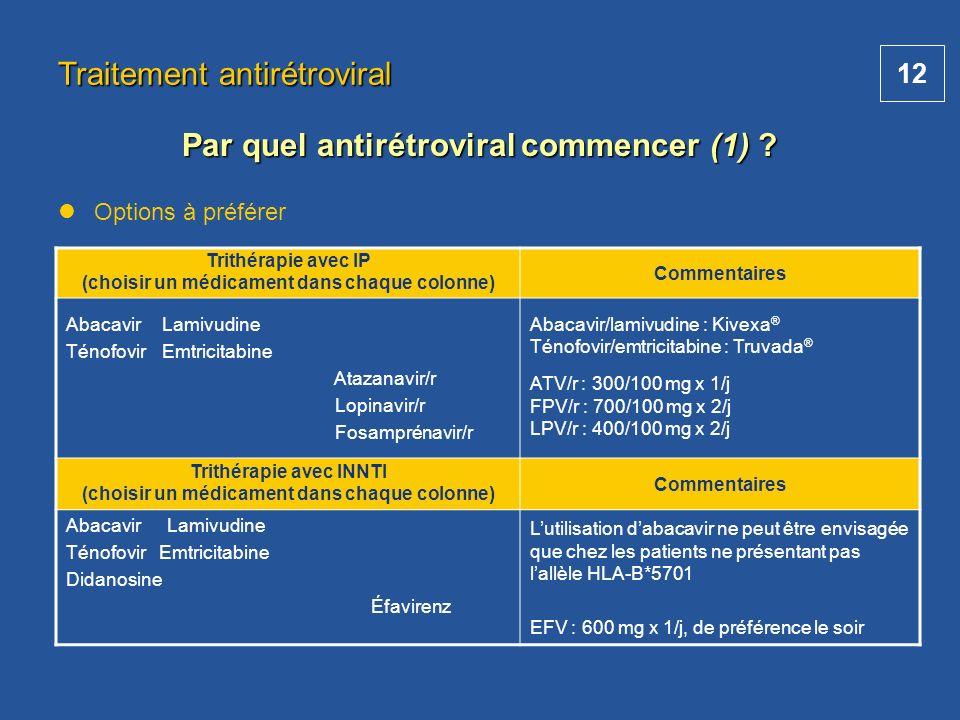 Par quel antirétroviral commencer (1)