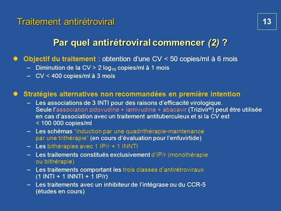 Par quel antirétroviral commencer (2)