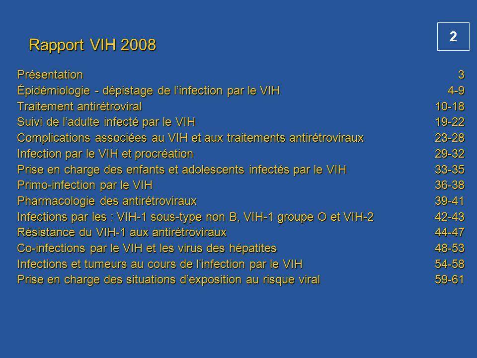 Rapport VIH 2008 Présentation
