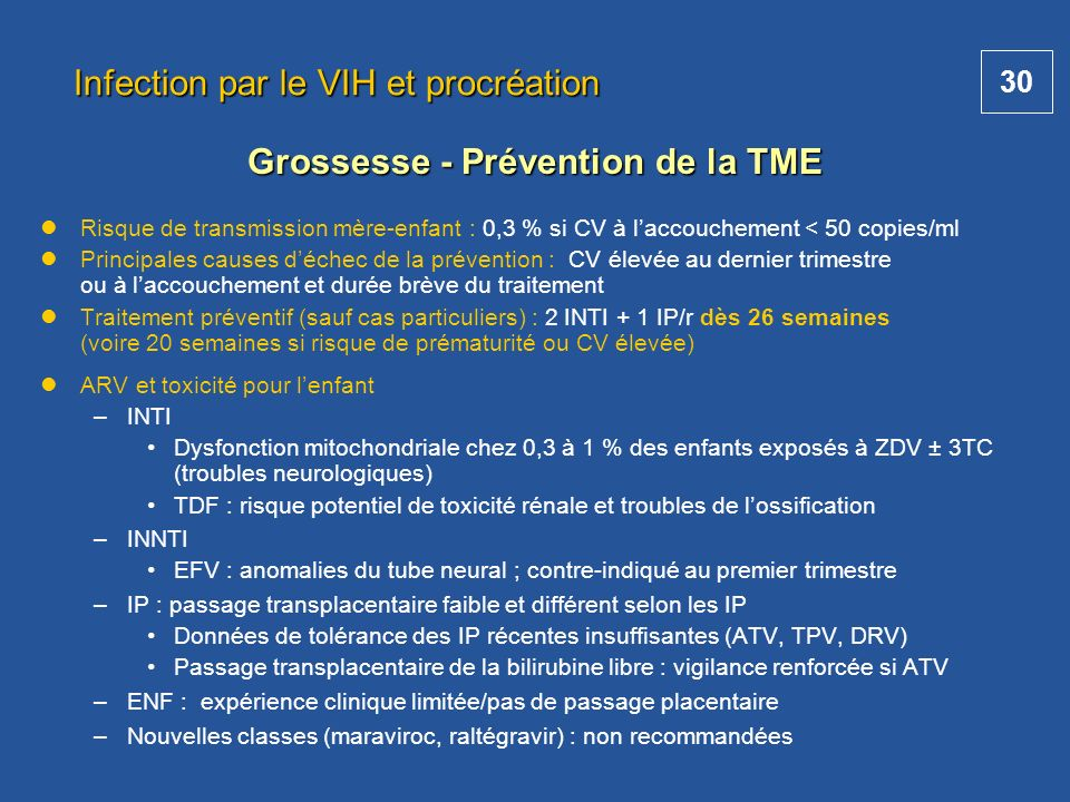 Infection par le VIH et procréation