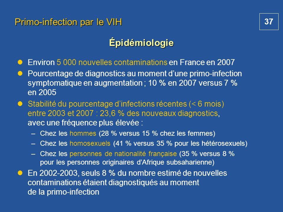 Primo-infection par le VIH