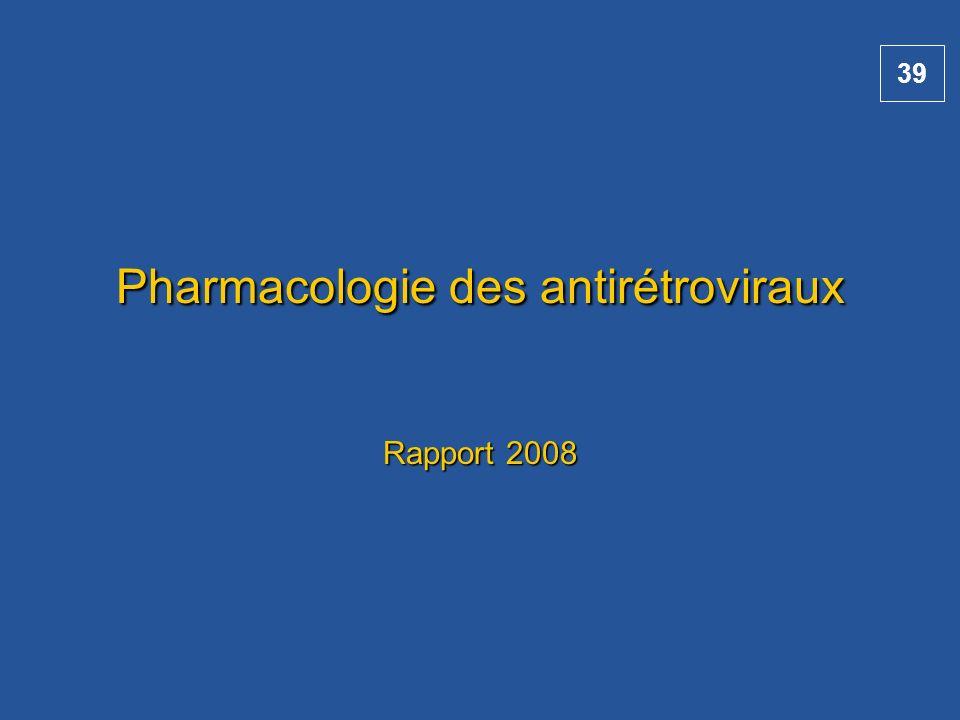 Pharmacologie des antirétroviraux Rapport 2008