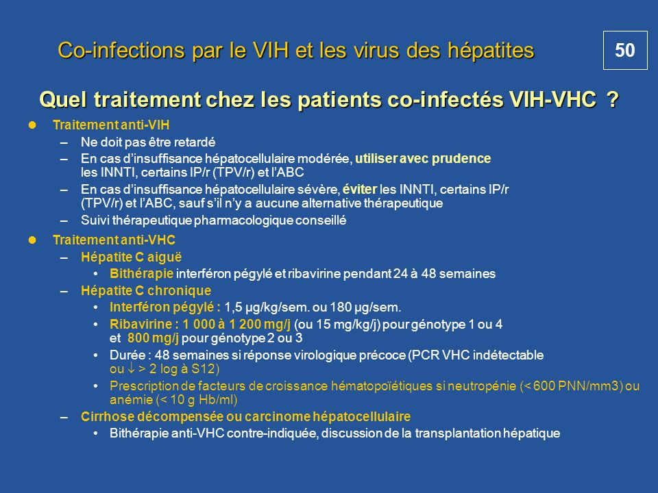 Co-infections par le VIH et les virus des hépatites
