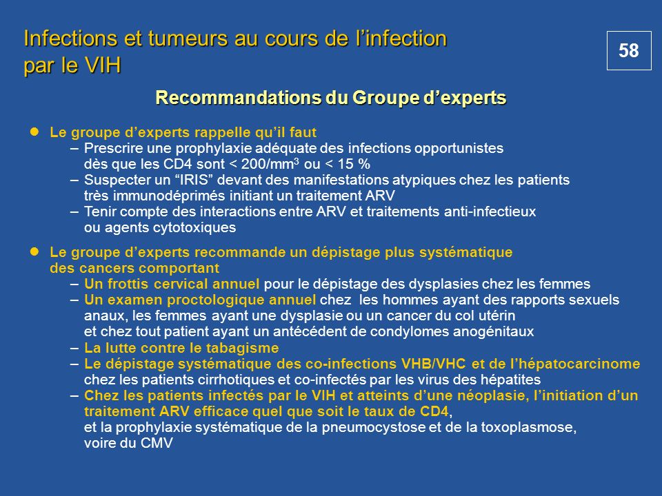 Recommandations du Groupe d'experts