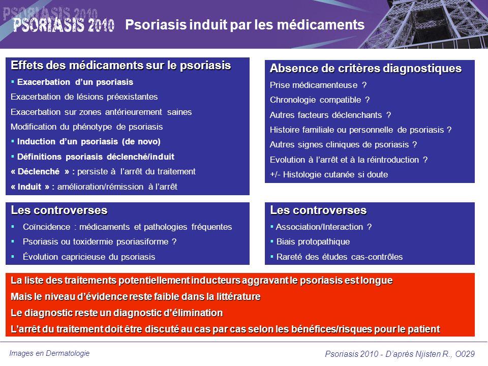 Psoriasis induit par les médicaments