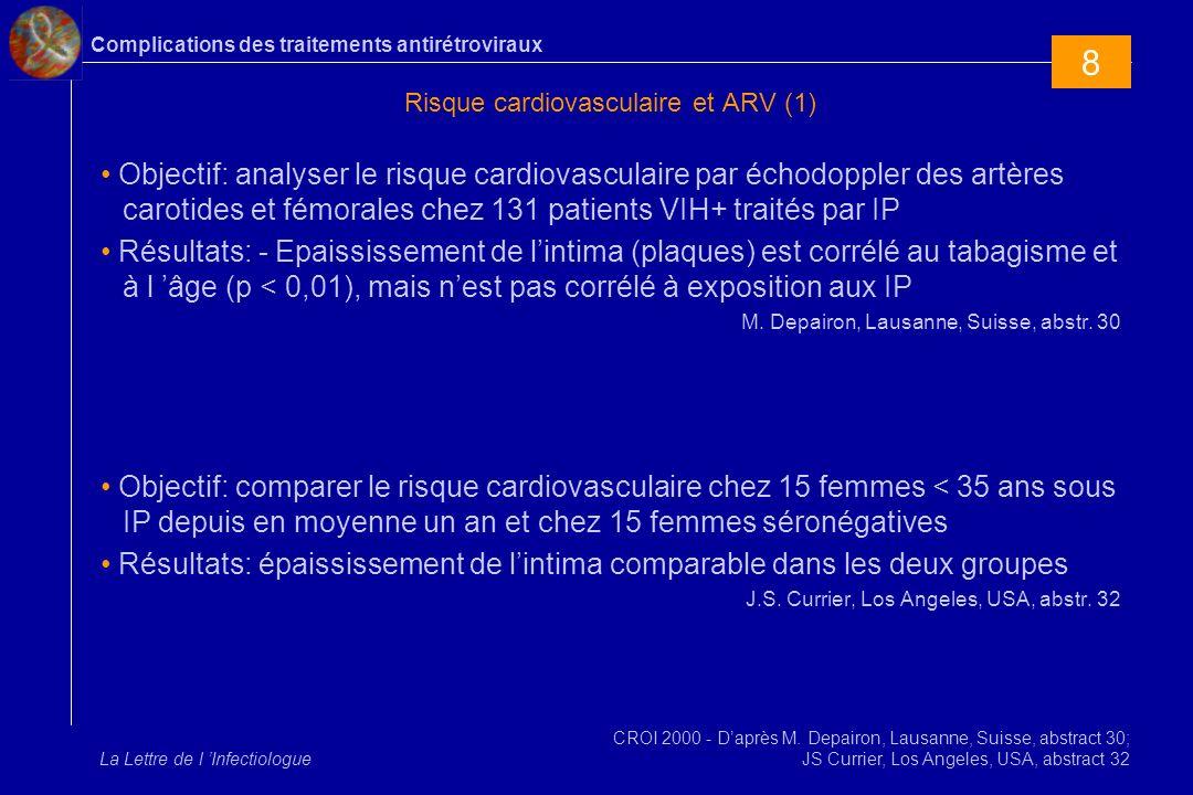Risque cardiovasculaire et ARV (1)