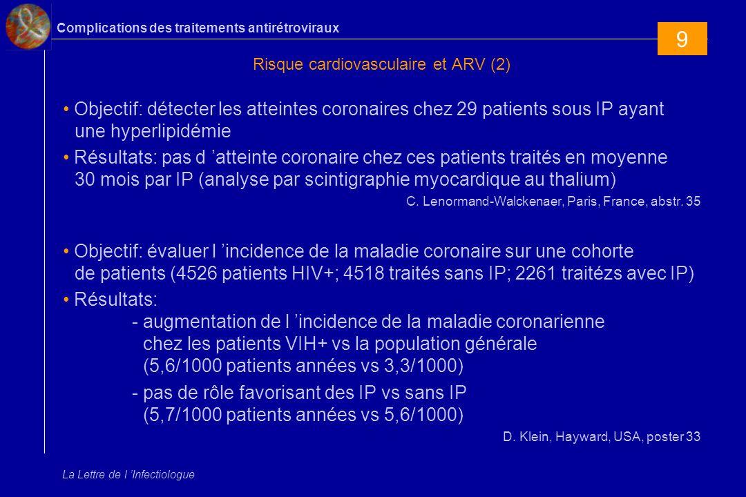 Risque cardiovasculaire et ARV (2)