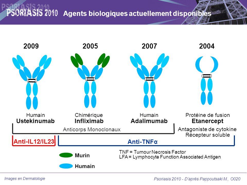 Agents biologiques actuellement disponibles