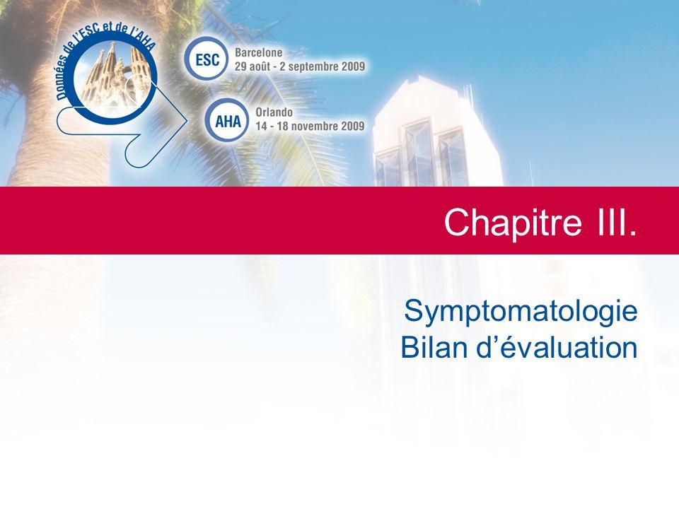 Symptomatologie Bilan d'évaluation
