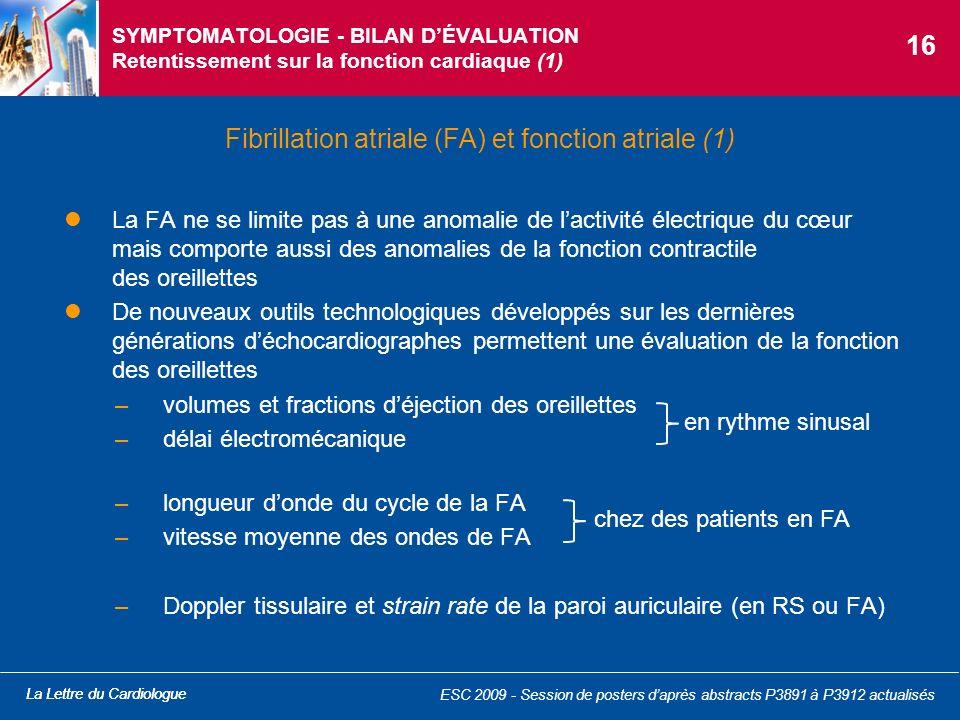 Fibrillation atriale (FA) et fonction atriale (1)