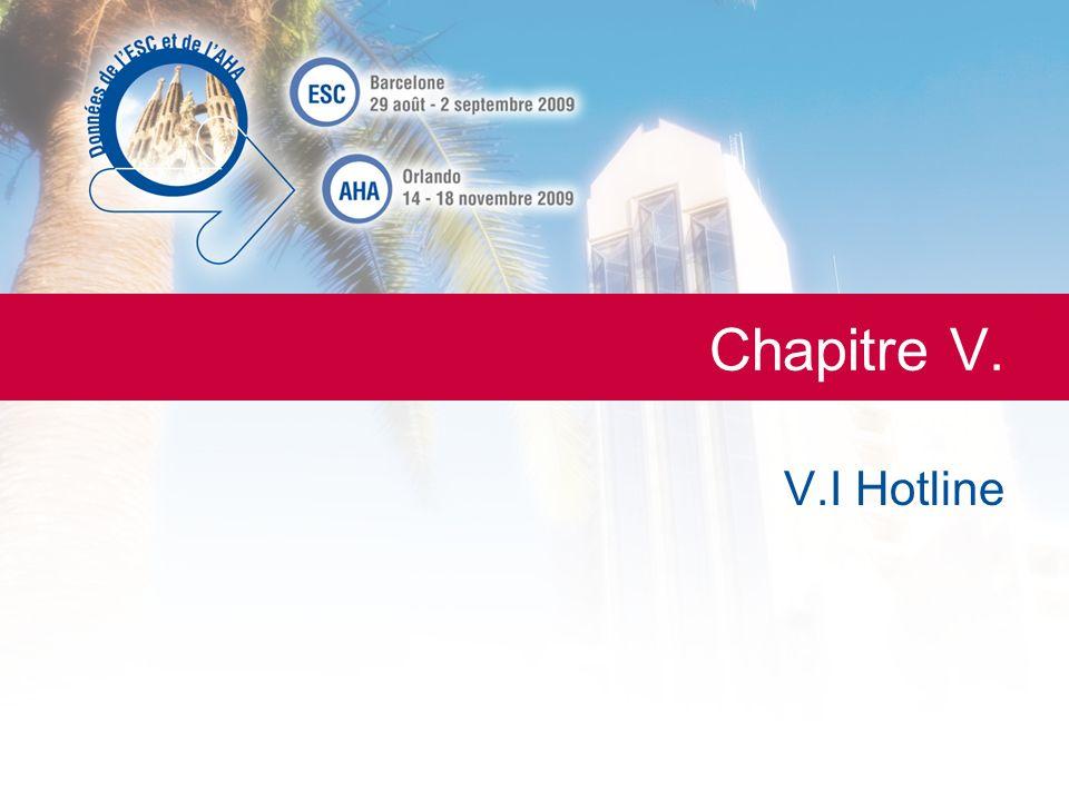 Chapitre V. V.I Hotline La Lettre du Cardiologue