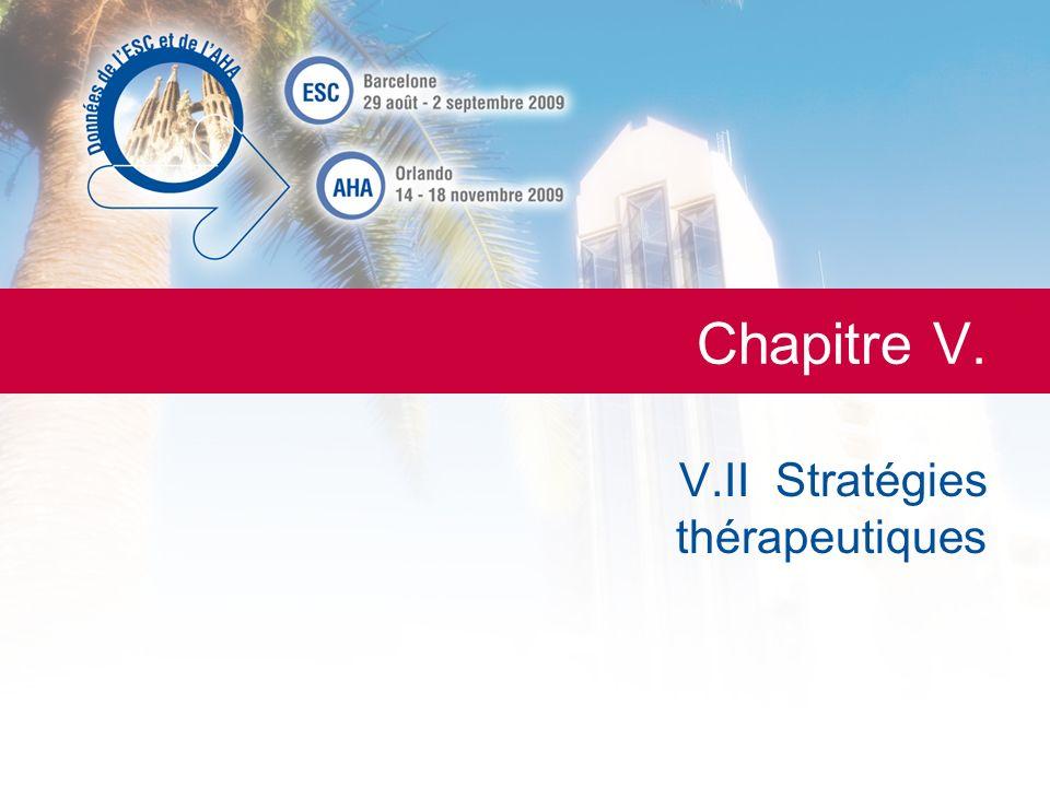 V.II Stratégies thérapeutiques