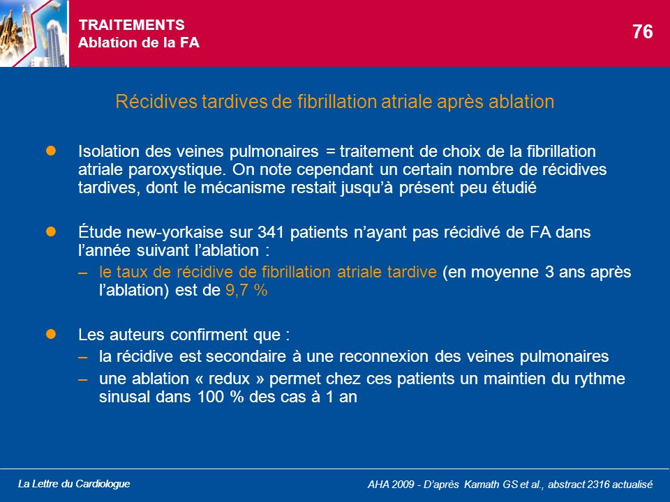 TRAITEMENTS Ablation de la FA