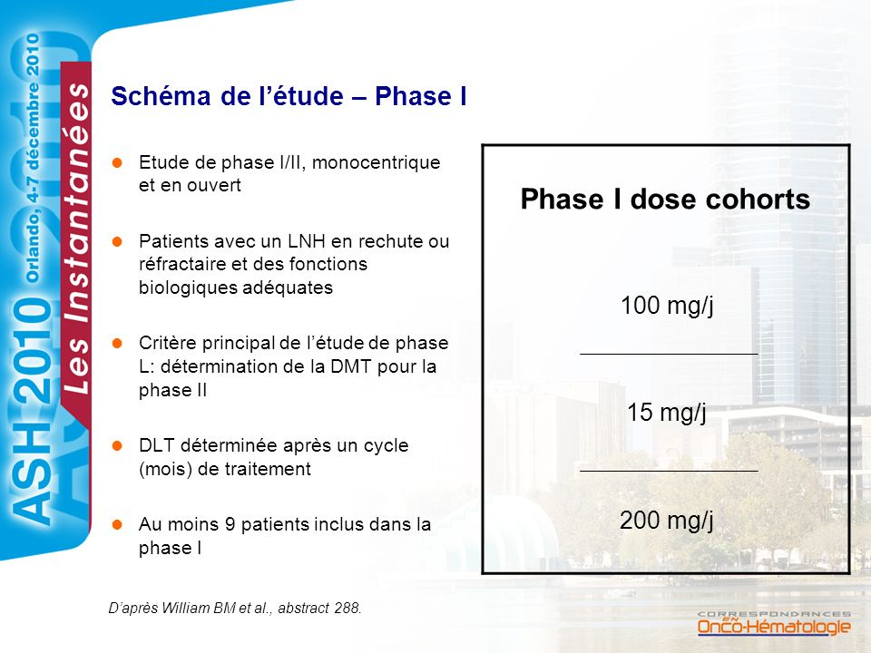 Schéma de l'étude – Phase I