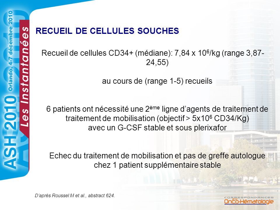 RECUEIL DE CELLULES SOUCHES
