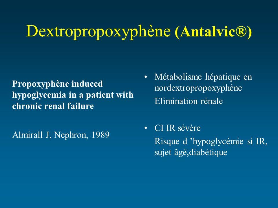 Dextropropoxyphène (Antalvic®)