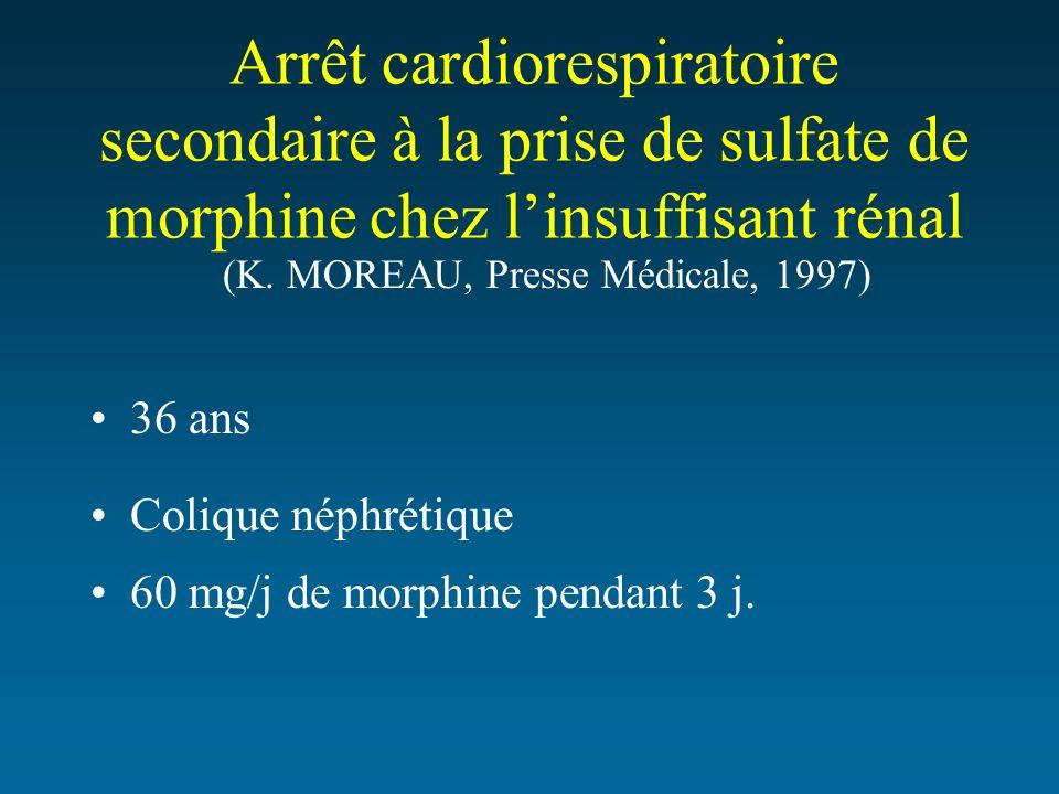 Arrêt cardiorespiratoire secondaire à la prise de sulfate de morphine chez l'insuffisant rénal