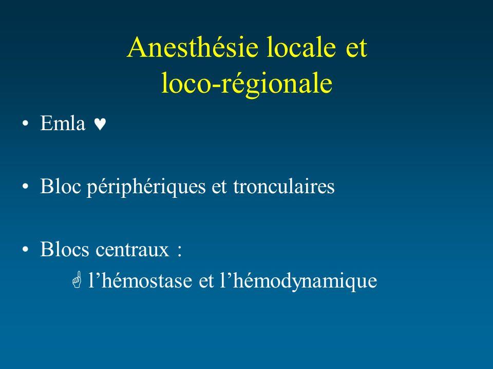 Anesthésie locale et loco-régionale