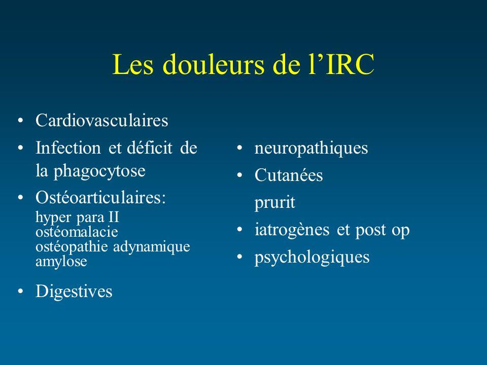 Les douleurs de l'IRC Cardiovasculaires