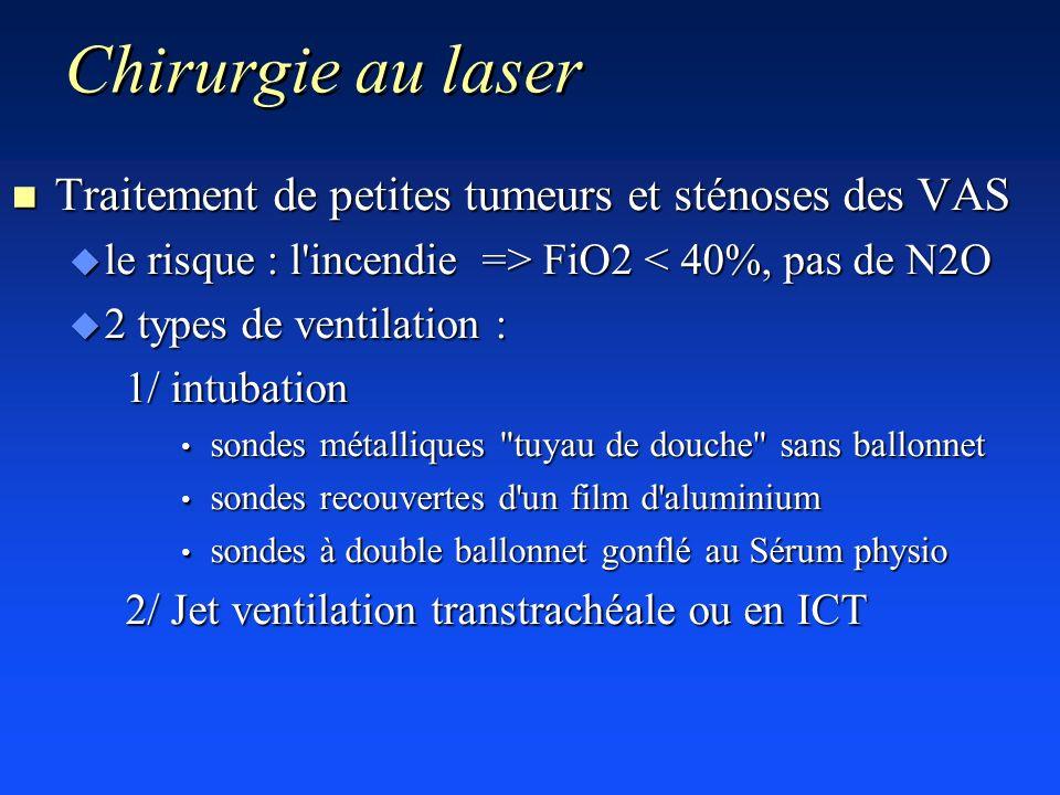 Chirurgie au laser Traitement de petites tumeurs et sténoses des VAS