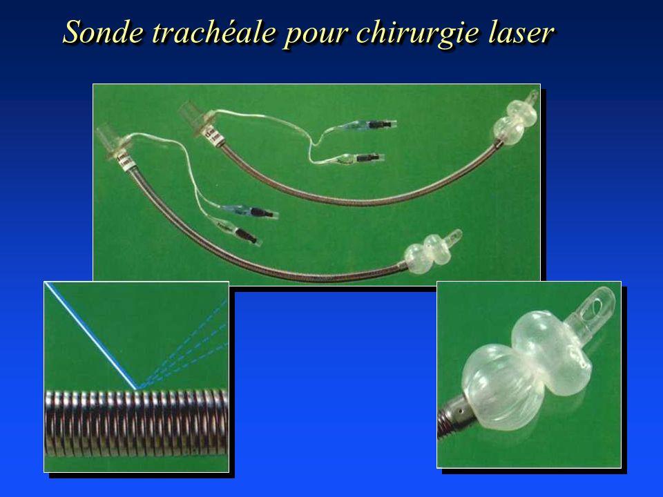 Sonde trachéale pour chirurgie laser