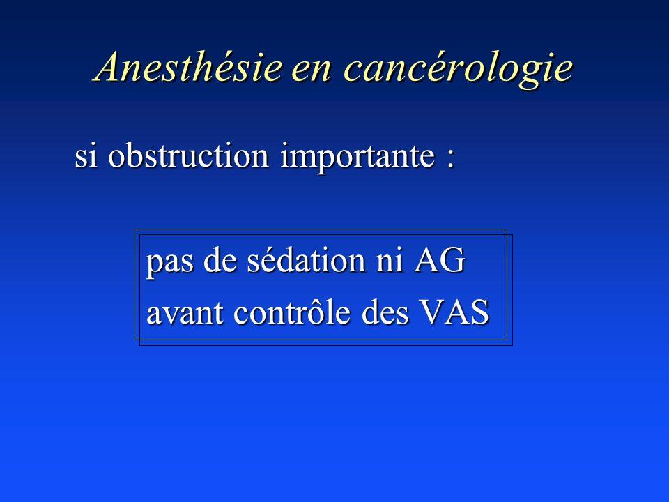 Anesthésie en cancérologie