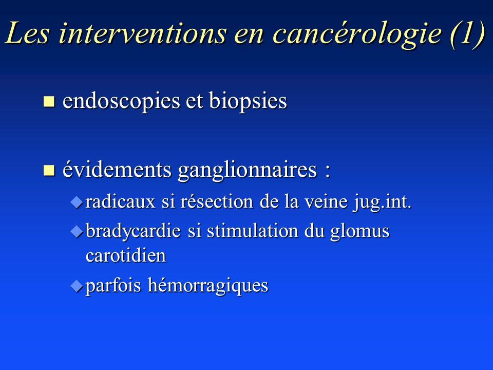 Les interventions en cancérologie (1)