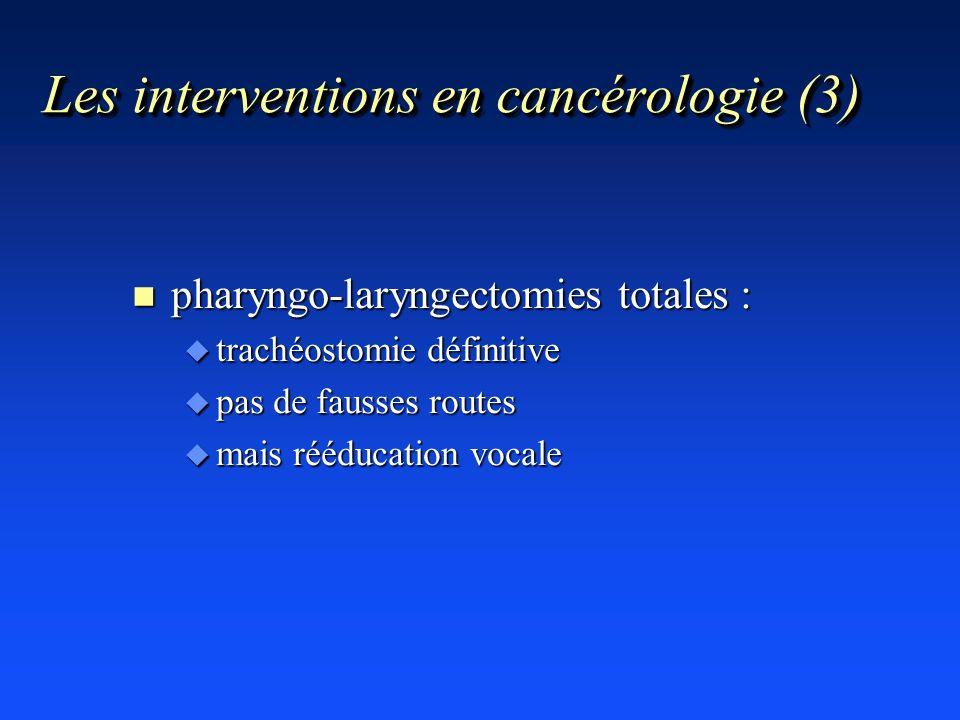 Les interventions en cancérologie (3)