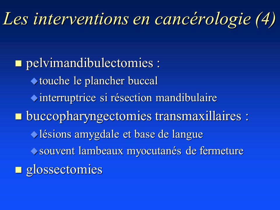 Les interventions en cancérologie (4)