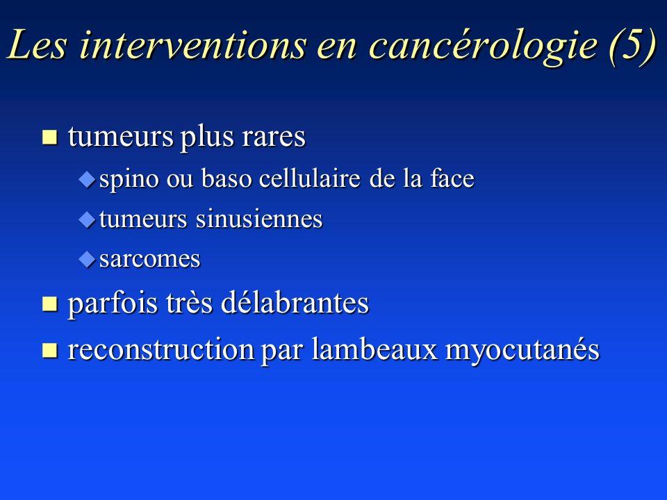 Les interventions en cancérologie (5)