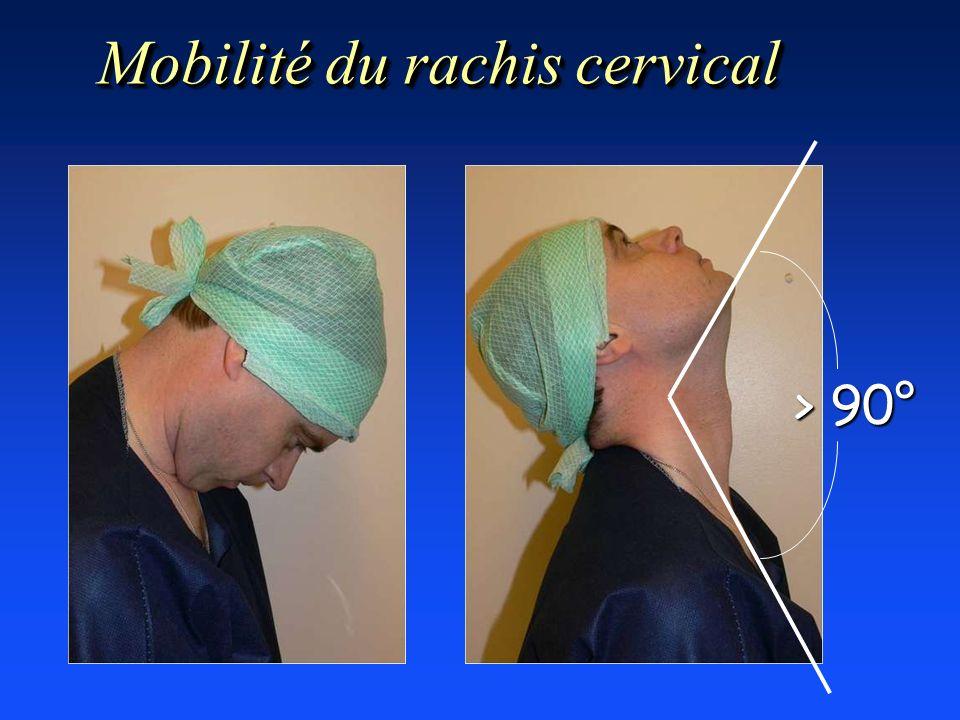 Mobilité du rachis cervical