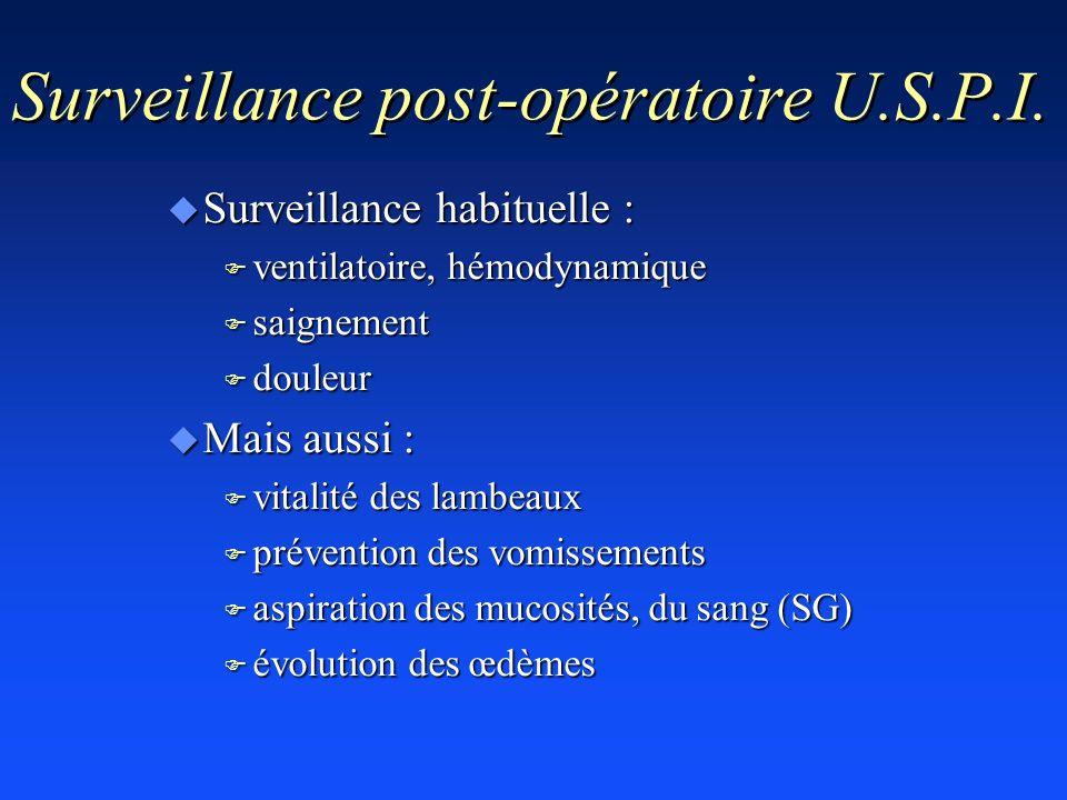 Surveillance post-opératoire U.S.P.I.