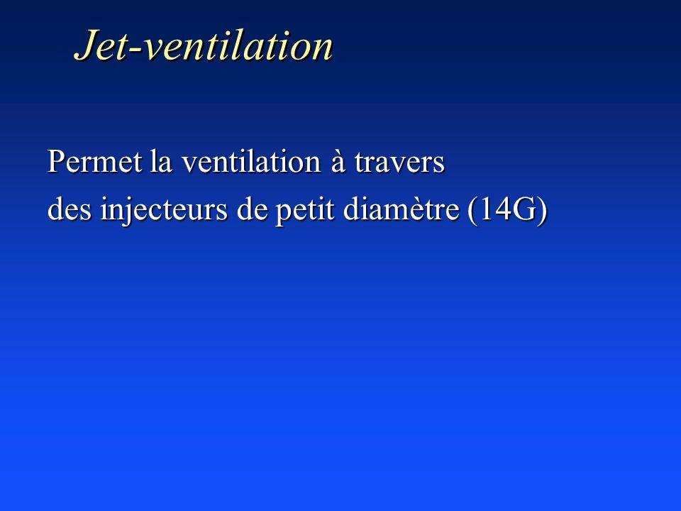 Jet-ventilation Permet la ventilation à travers