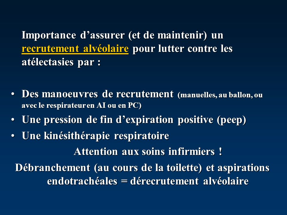 Attention aux soins infirmiers !