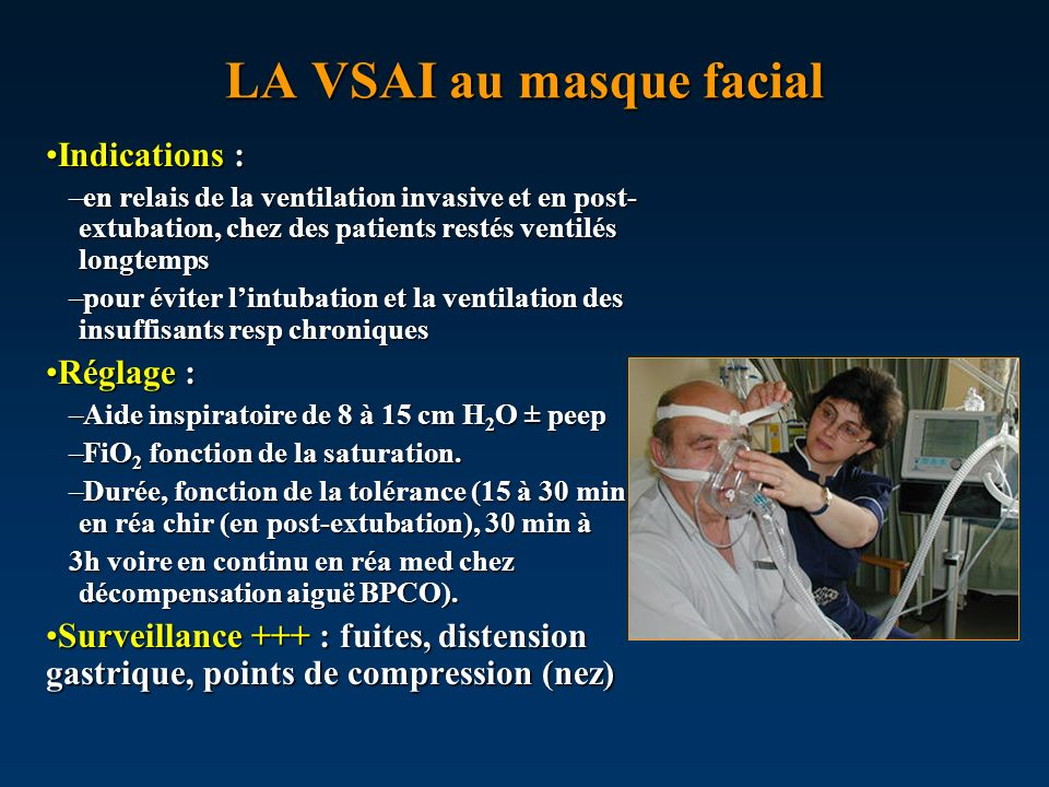 LA VSAI au masque facial