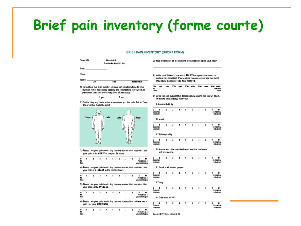 Brief pain inventory (forme courte)