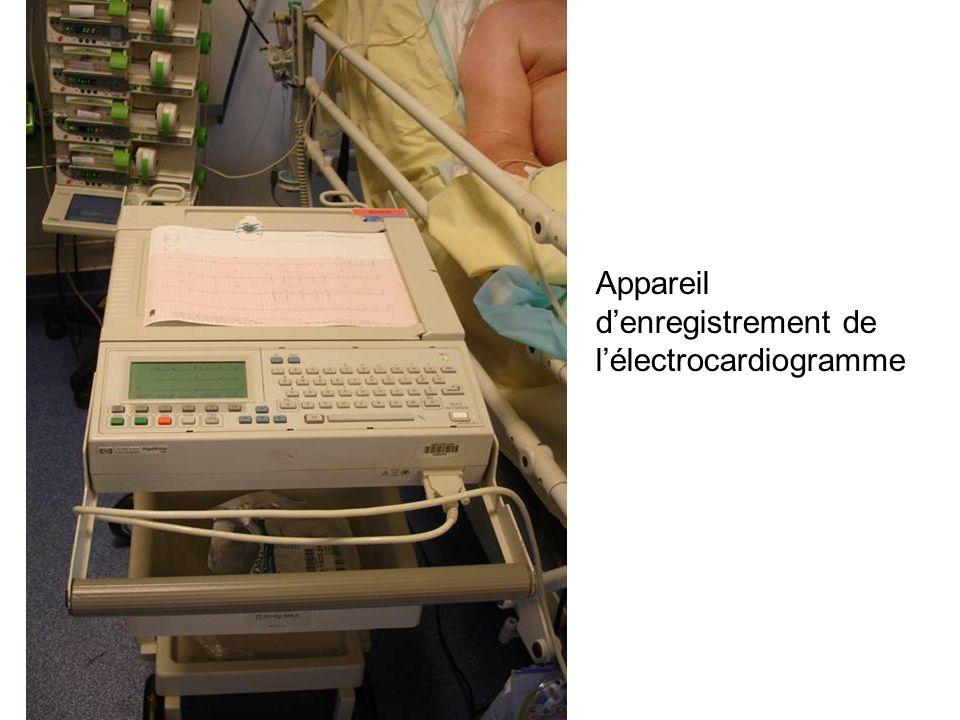 Appareil d'enregistrement de l'électrocardiogramme
