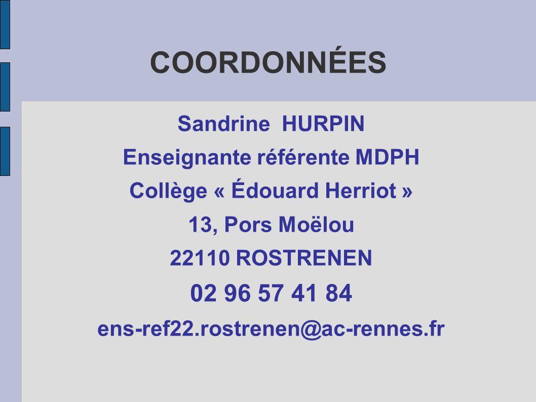 Enseignante référente MDPH Collège « Édouard Herriot »